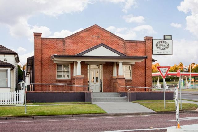 Outside view of Fry Bros Chapel Building situated in East Maitland