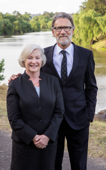 Picture of Tony & Margaret in front of a river